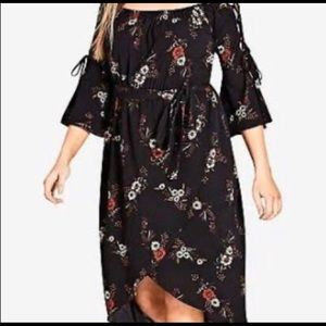 Women's City Chic Floral Midi Dress